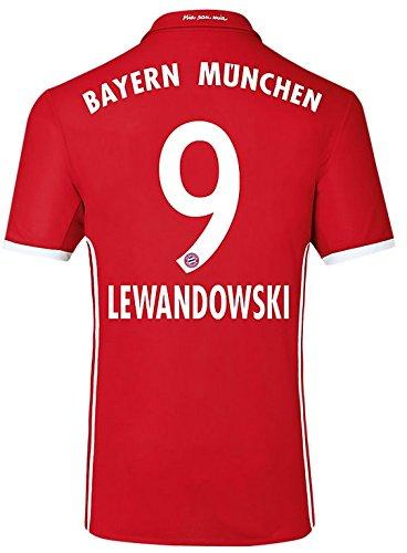 Trikot Adidas FC Bayern München 2016-2017 Home (Lewandowski 9, M)
