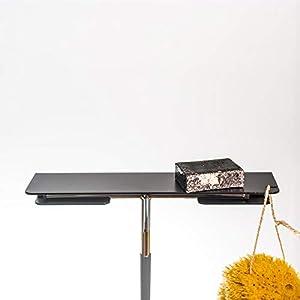 Duschablage PRI aus Aluminium schwarz matt für Dusche und Bad mit integriertem Halter für einen Duschabzieher, Handwerk…