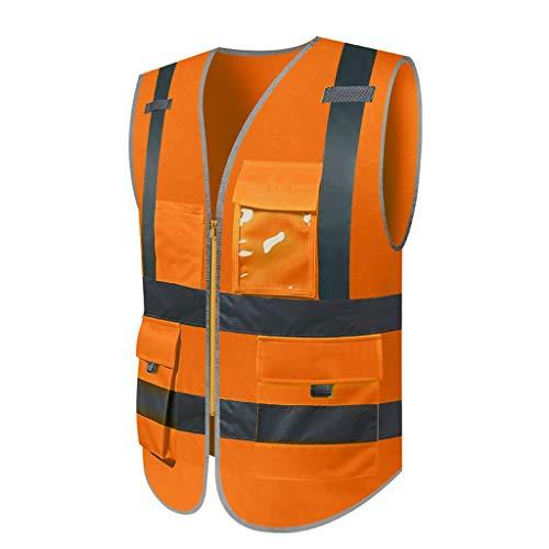 ZHongWei - BAU Weste Reflektierende Weste, Weste, Müllmann, BAU Fahrer, Auto, Verkehrssicherheit, Nachtfahrten (Multi-Color optional) Größe, Bestellschein erforderlich ^ - ^ (Color : A)