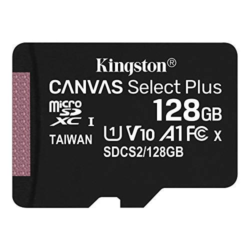 キングストン microSD 128GB UHS-I U1 V10 A1 Nintendo Switch動作確認済 アダプタ付 Canvas Select Plus S...