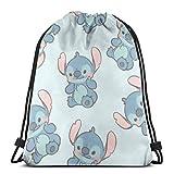 Etryrt Mochila de Cuerda Bolsas de Gimnasia Cute Cartoon Stitch Gym Backpack Shoulder Bags Sport Storage Bag for Man Women