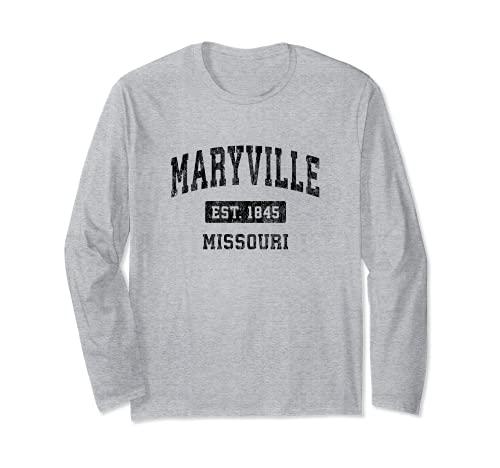 Maryville Missouri MO Vintage Sports Design Black Design Long Sleeve T-Shirt -  Maryville MO Retro T-Shirts & Tees