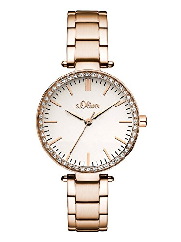 s.Oliver Damen-Armbanduhr Analog Quarz Edelstahl SO-3159-MQ