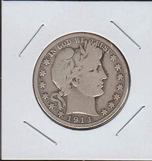 1914 S Barber or Liberty Head (1892-1915) Half Dollar Fine