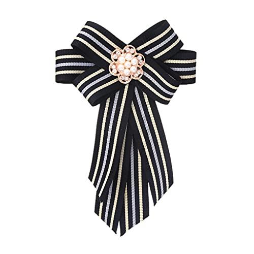 NSXKB Bowties Bows Bows Broche Tela Crystal Pins and Broches Corsage Butterfly Blusa Accesorios Pin Solapa para Mujeres