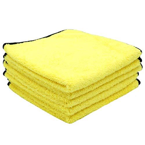 DUNLOP® 5X Mikrofasertücher zur professionellen Autopflege - Lackschonend - Weiche Mikrofaser - effektive Reinigung - Poliertücher - 40 x 40 cm