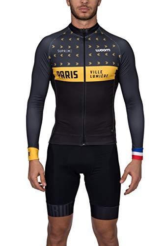 Jaqueta Ciclismo Supreme Paris Woom Homens M Preto/ Amarelo