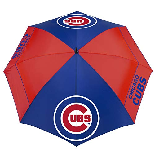 New MLB Chicago Cubs 62 Windsheer Lite Umbrella62 Windsheer Lite Golf Umbrella, Multi, NA