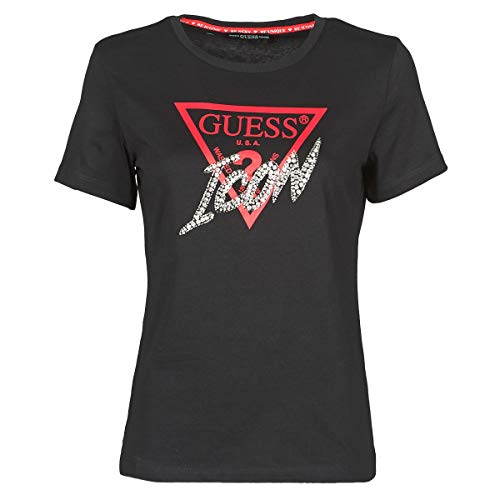 Guess Donna T-Shirt Logo Icon Nero MOD. W0YI32 I3Z00 S