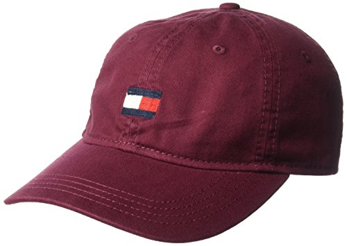 Tommy Hilfiger Mens Ardin Dad Hat, Zinfandel, One Size
