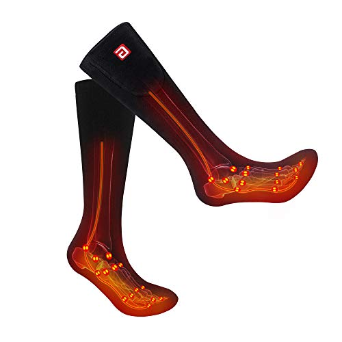 Battery Heated Socks Stockings Unisex Ski Socks Electric Rechargeable Hiking&Camping Equipment,...