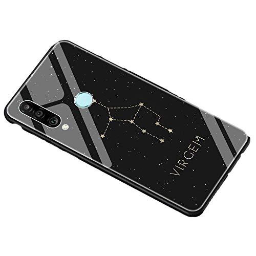 kanglang Teléfono Caso Personalidad Interesante Estuche Teléfono Constelación Patrón Estuche Teléfono Estuche de teléfono Exclusivo Negro-para honrar 8X_T10
