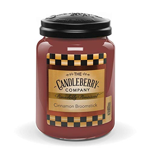 Candleberry Candles   Winter Candles   Best Candles on The Market   Hand Poured in The USA   Highly Scented & Long Lasting   Large Jar 26 oz (Cinnamon Broomstick)
