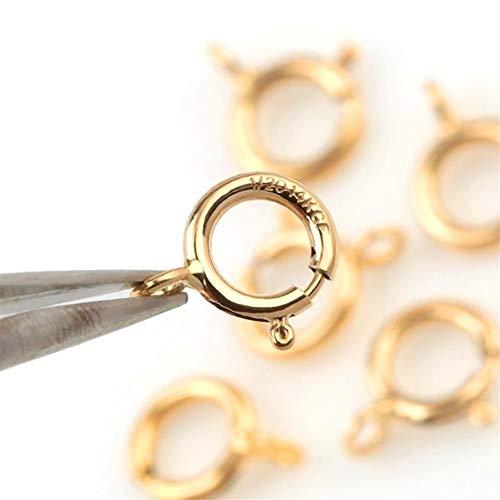 Zhaolan-Digital Tester Las bisagras de la Puerta de Hardware Un par de brazaletes Collar en 5mm 6mm Loop de Cierre Ganchos for DIY Buckles Bisagra (Size : 5mm a Pair)