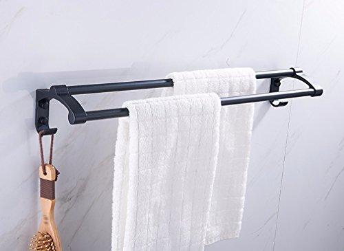 MBYW moderne minimalistische hoge dragende handdoek rek badkamer handdoekenrek Opslag plank Europese sub-zwarte ruimte aluminium dikke handdoek rek