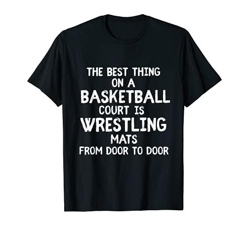 Tapis de lutte sur terrains de basket-ball - Cadeau pour les lutteurs T-Shirt