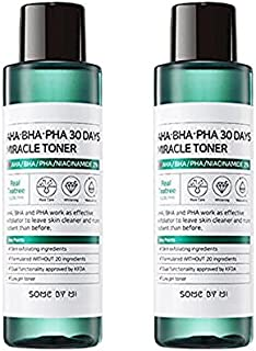 Ifactory SomeByMi Aha.Bha.Pha 30Days Miracle Toner 150ml (5oz) x2 Pcs Set Anti-acne Exfoliation Hydration Brightening