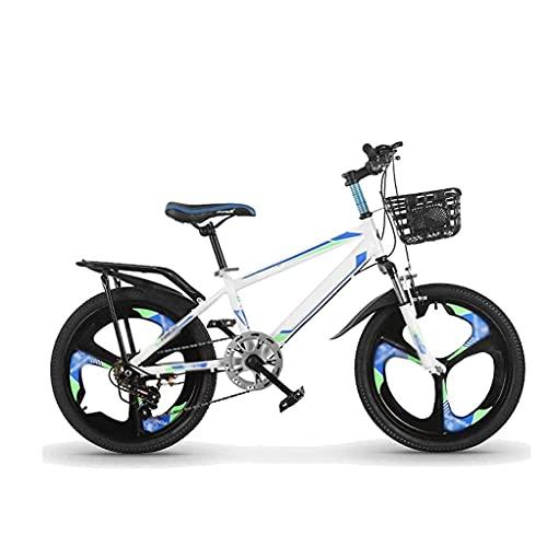 HUAQINEI Bicicleta para niños Bicicleta para Exteriores de 20 Pulgadas para niños, 7 velocidades, Ajustable, para niños y niñas de 9 a 14 años, Bicicleta Ajustable para niños, Bicicleta de montaña, B