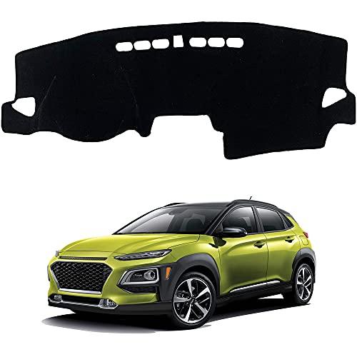 para Hyundai Kona 2018-2020 Accesorios LHD antideslizante Dashboard alfombra Dashboard cubierta cubierta cubierta de tablero de la cubierta del sol Pad Dash Mat cubierta 1 unids