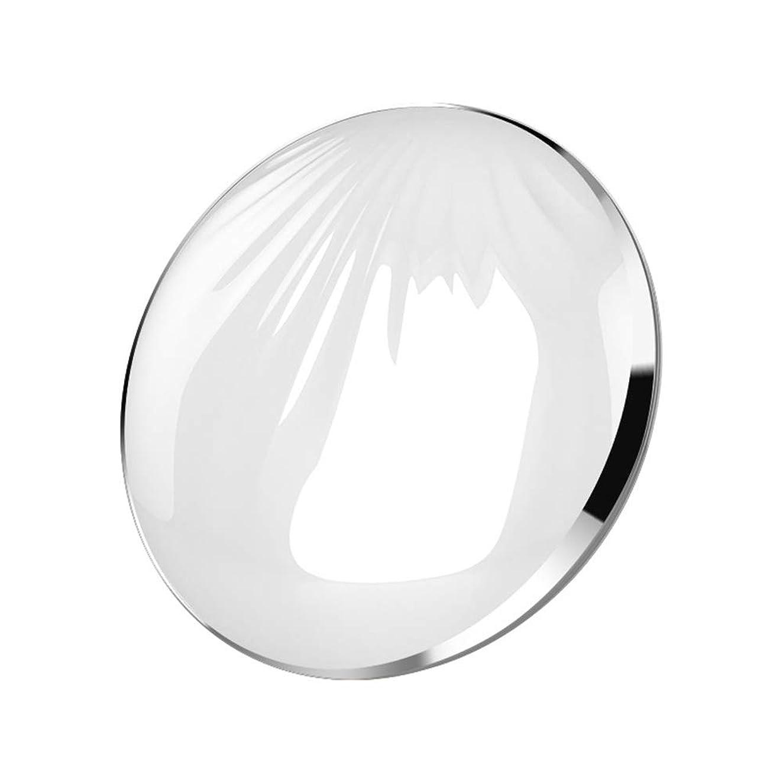 イブニングトイレバーベキュー流行の クリエイティブled化粧鏡シェルポータブル折りたたみ式フィルライトusbモバイル充電宝美容鏡化粧台ミラーピンクシルバーコールドライトウォームライトミックスライト (色 : Silver)