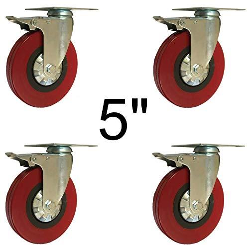 4x Ruedas giratorias rueda loca 5