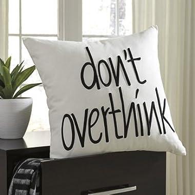 Don't Overthink Pillow White