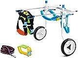 YAOSHUYANG Silla de ruedas para patas de espalda, carrito de apoyo completo ajustable, rehabilitación de patas traseras para cachorros discapacitados, 2 ~ 30 kg