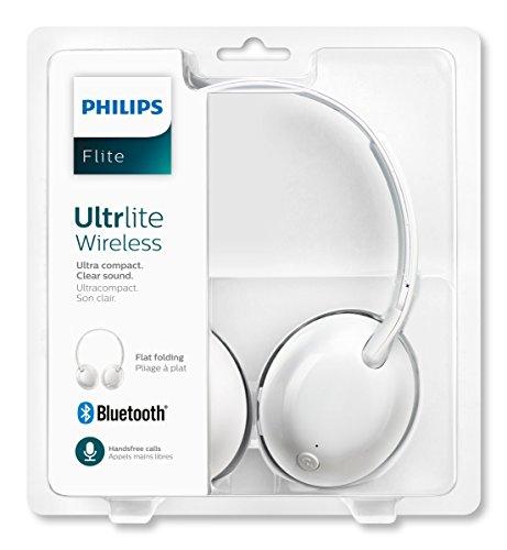 Philips SHL4405WT Flite Ultrlite On-Ear Bluetooth Kopfhörer (mit Mikrofon, Ultraleicht, 9 Stunden Akku, Fernbedienung) weiß