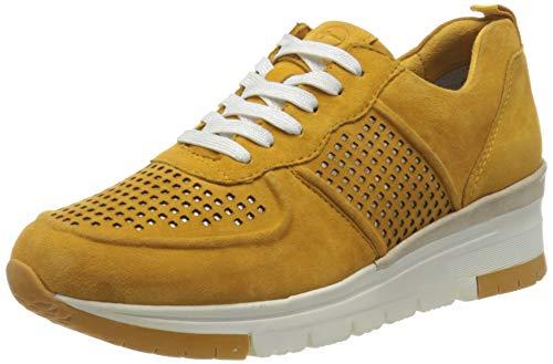Tamaris Damen 1-1-23745-24 Sneaker, Gelb (Saffron/Punch 656), 36 EU