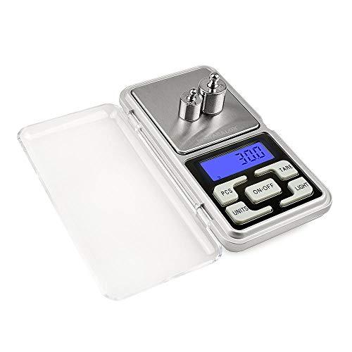 Mini balanza digital de bolsillo de 500 g x 0,1 g para oro, plata esterlina, balanzas de joyería, 0,1 unidades de visualización, balanza electrónica de gramo, 500 g, 0,01