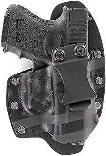 USA Stealth Black IWB NT Hybrid Kydex & Leather Holster for Handguns