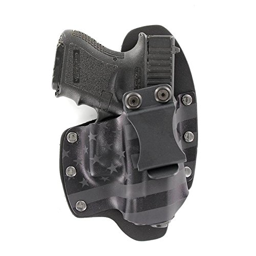 USA Stealth Black IWB Hybrid Concealed Carry Holster (Right-Hand, Fits Glock 17,19,22,23,25,26,27,28,31,32,34,35,41 (19X,17,19,26 Gen5)