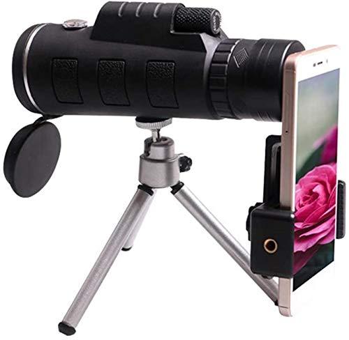 ZUOAO 40 y Veces;60 Telescopio monocular Dispositivo de Alta definición Portátil Senderismo Camping Soporte para teléfono Celular con trípode