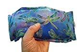 (Take Two Pillows) One Flax Seed Eye Pillow with Lavender Buds and Matching Slip Cover. (10 x 4 x 1 inches). Don't take Pills! Take Pillows!