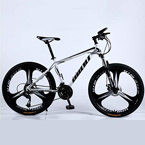 Adulti Mountain Bike, Spiaggia motoslitta Biciclette, Doppio Freno a Disco Biciclette, 26 Pollici in Alluminio Lega, Uomo Donna General Purpose,D,24 Speed