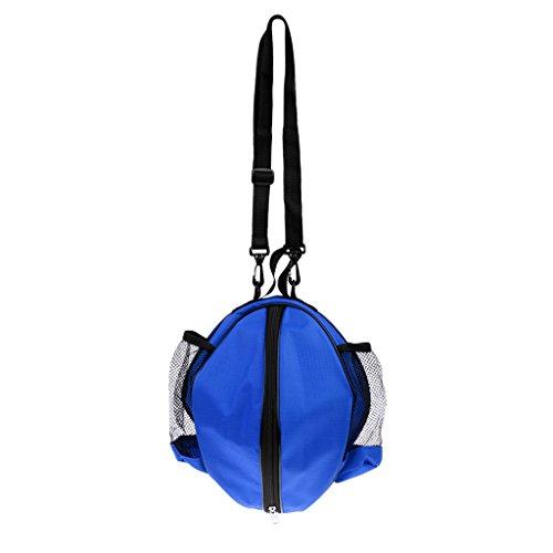 MagiDeal Waterproof Sac de Transport de Basket-Ball + Bandoulière Porté Epaule Réglable - Bleu, 38 x 16 x 11cm
