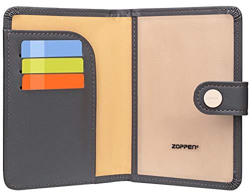 Zoppen Rfid Blocking Travel Passport Holder Cover Slim Id Card Case (17 Dark Grey)