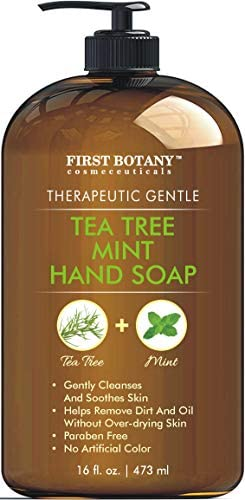 Tea Tree Mint Hand Soap Liquid Hand Soap with Peppermint Jojoba Coconut Oil Multipurpose Liquid product image