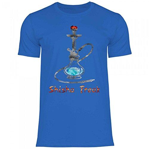 Royal Shirt rs120 Herren T-Shirt Shisha Freak | Funshirt Schischa Wasserpfeife Tabak Bong, Größe:M, Farbe:Royal