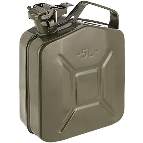PrimeMatik - Bidon en métal pour Essence ou Diesel 5 L Vert