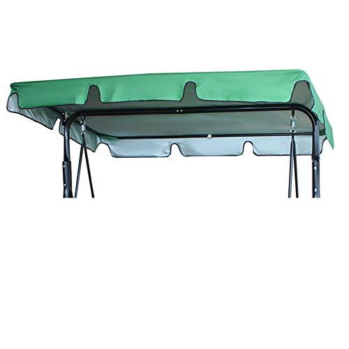 Copertura Tetto Dondolo Impermeabile 164x114x15cm Tettuccio Dondolo 2 Posti per Ricambio in 210D Oxford Parasole Dondolo Giardino Anti-UV Anti-Acqua (verde, 164x114x15cm)