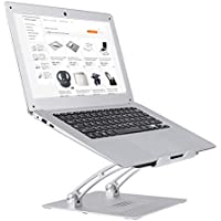 Coomaxx Multi-Angle Adjustable Portable Anti-Slip Laptop Stand for Desk (Silver)