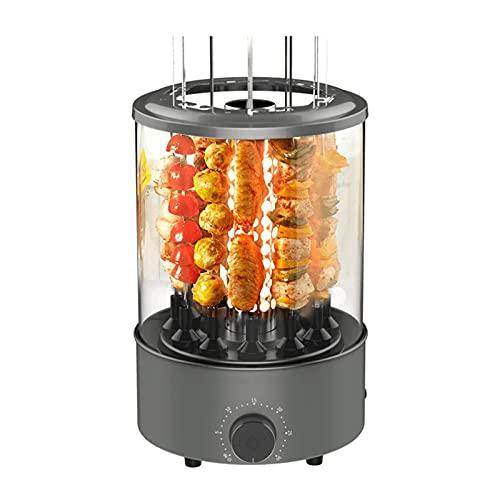 WPHGS Rotisserie Grills Horno - Rotación de la Parrilla Vertical - Grill BBQ eléctrico de encimera - Máquina de Kabob con Giro automático sin Humo 360 °, Puede Contener 12 Cuerdas