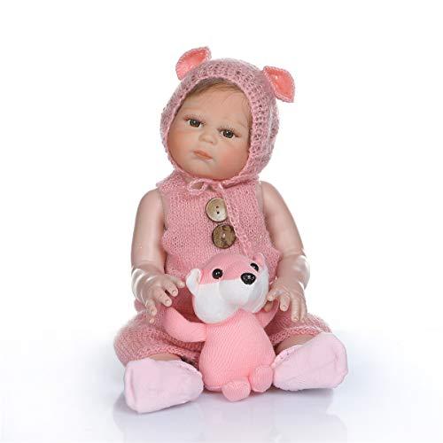 Binxing Toys 20 pulgadas/50cm muñecas Reborn niña Silicona muñeca de niña recién Nacida Hecha a Mano de Cuerpo Juguete de Peluche