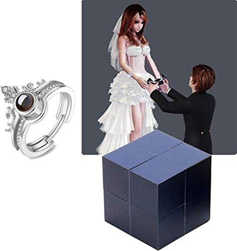 Kreative Ring und Puzzle Schmuckschatulle,kreative Ring- und Puzzle-Schmuckschatulle, Puzzle-Schmuckschatulle für den Heiratsantrag zum Valentinstag, magische Ringschachtel