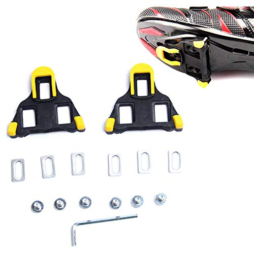 Beher Road Bike Cleats Float Self-Locking Cycling Pedals Cleat, Indoor Cycling & Road Bike Bicycle Cleat Set