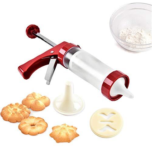 LAEMALLS Gebäckpresse Gebäckspritze, Kuchen-Zuckerglasur-Set, Cremespritze Biscuits Plätzchenpresse-Set mit 16 Unterschiedlicher Stil Form Schimmel und 6 Tüllen, for Kräcker, Kuchen und Kekse#3