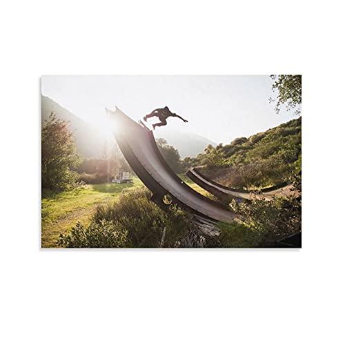 Skateboard-Rampe, Poster, dekoratives Gemälde, Leinwand, Wandkunst, Wohnzimmer, Poster, Schlafzimmer, Gemälde, 40 x 60 cm