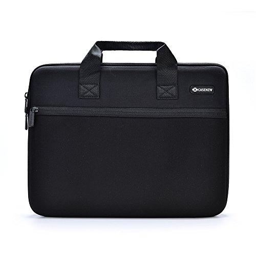 Custodia Nuova Custodia di Trasporto del Computer Borsa Tracolla Valigetta per 33,8cm/38,1cm MacBook Air PRO/MacBook Nero e Grigio.