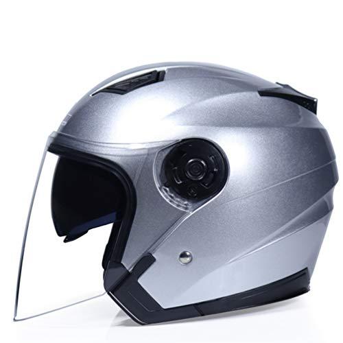 OLEEKA Casco de Moto Ligero Casco de Motocicleta Casco de Cara Abierta